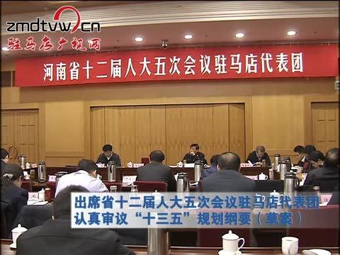 """驻马店代表团认真审议""""十三五""""规划纲要(草案)"""