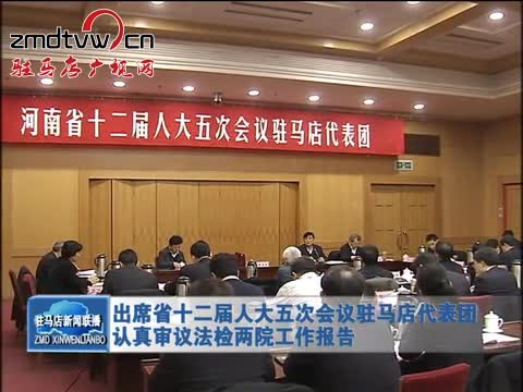 驻马店代表团认真审议法检两院工作报告