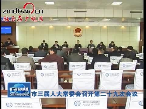 市三届人大常委会召开第二十九次会议