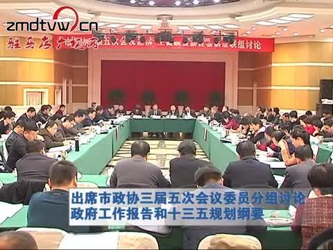 出席市政协三届五次会议委员分组讨论政府工作报告