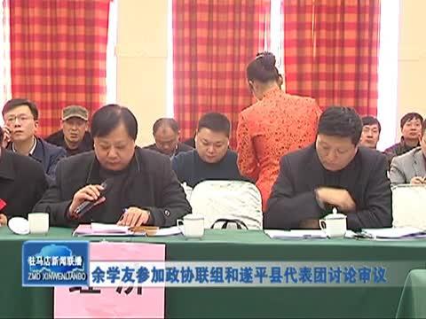 余学友参加政协联组和遂平代表团讨论审议