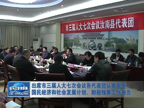 出席市三届人大七次会议各代表团认真审查国民经济和社会发展计划、财政预算工作报告