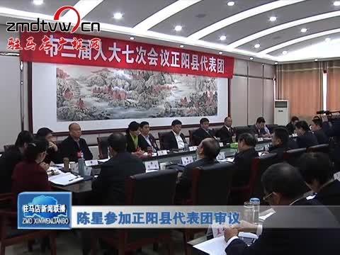陈星参加正阳县代表团审议