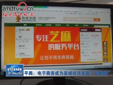 """平舆:电子商务成为县域经济发展""""助推器"""""""