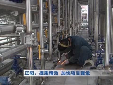 正阳:提高增效 加快项目建设