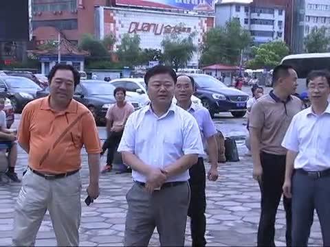 陈星到汽车客运东站 火车站督导检查创卫工作
