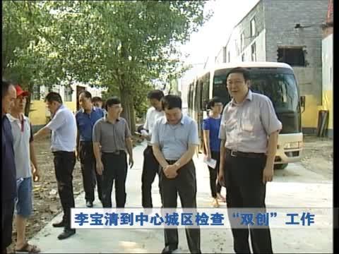 """李宝清到中心城区检查""""双创""""工作"""