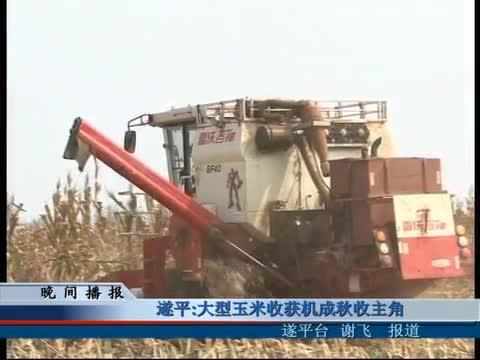 遂平:大型玉米收获机成秋收主角