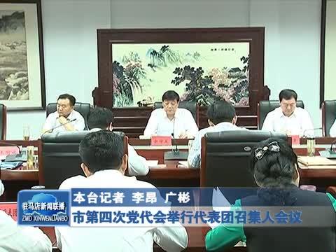 市第四次党代会举行代表团召集人会议