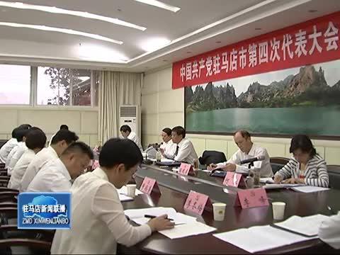 余学友 陈星分别参加遂平西平三区代表团讨论审议