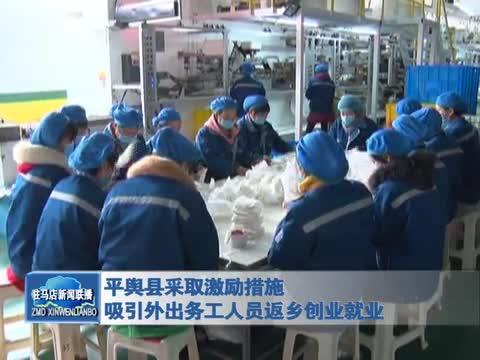 平舆县吸引外出务工人员返乡创业就业