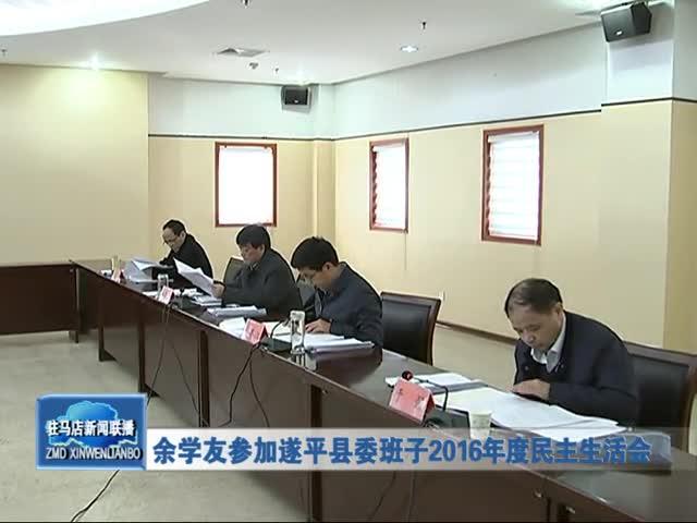 余学友参加遂平县委班子2016年度民主生活会