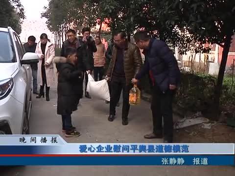 爱心企业慰问平舆县道德模范