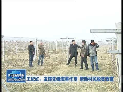 王纪红:发挥先锋表率作用 帮助村民脱贫致富