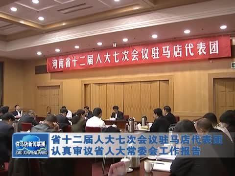 驻马店代表团认真审议省人大常委会工作报告