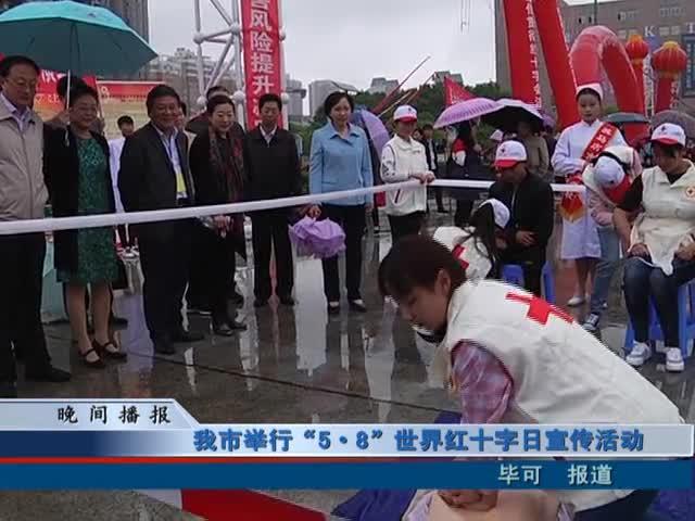 """我市举行""""5.8""""世界红十字日宣传活动"""