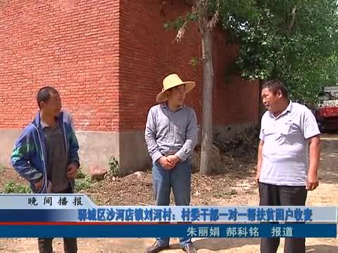 驿城区沙河店镇刘河村:村委干部一对一帮扶贫困户收麦