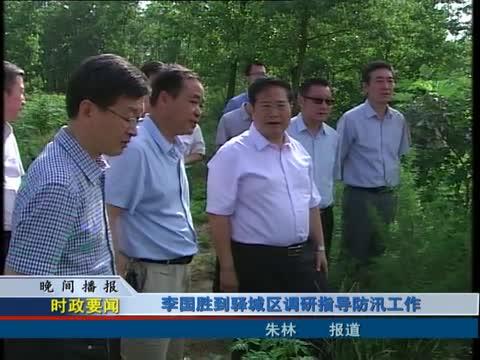 李国胜到驿城区调研指导防汛工作