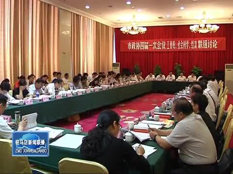 市政协委员分组讨论政府工作报告