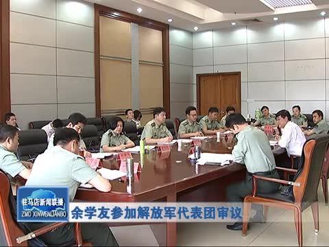 余学友参加解放军代表团审议