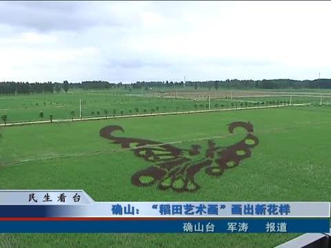"""确山:""""稻田艺术画""""画出新花样"""