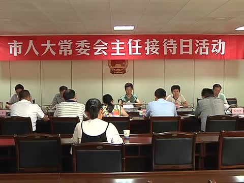 市人大常委会举行主任接待日活动