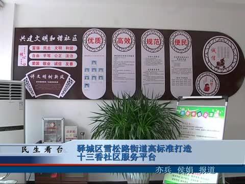 驿城区雪松街道高标准打造十三香社区服务平台