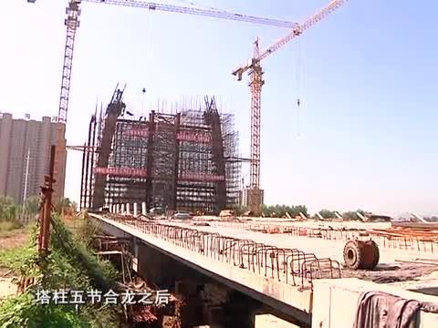 练江河大桥主塔承台建设接近尾声