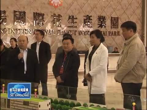 驻驻十一届政协委员视察正阳县花生产业发展情况