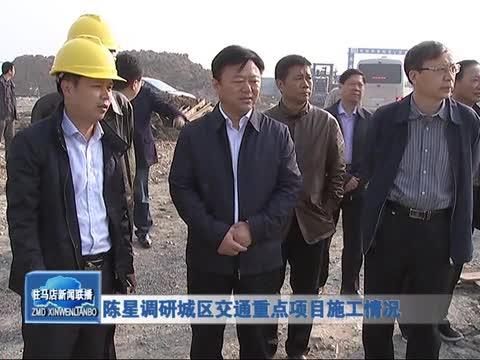 陈星调研城区交通重点项目施工情况