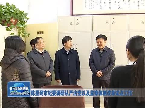 陈星到市纪委调研从严治党以及监察体制改革试点工作