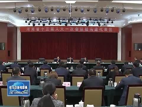 河南省十三届人大一次会议驻马店代表团成立
