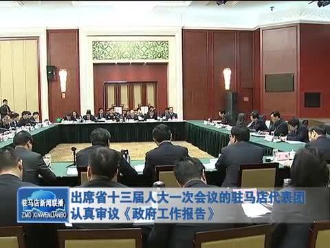 出席省十三届人大一次会议的驻马店代表团认真审议《政府工作报告》
