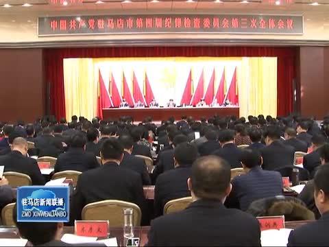 中国共产党驻马店市第四届纪律检查委员会第三次全体会议召开