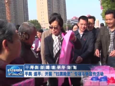 """平舆 遂平:开展""""扫黑除恶""""专项斗争宣传活动"""