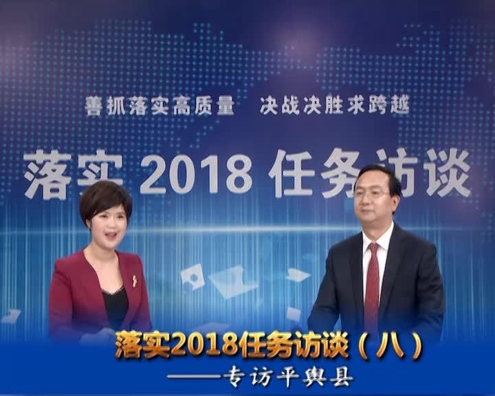 落实2018任务访谈--专访平舆县委副书记、县长赵峰