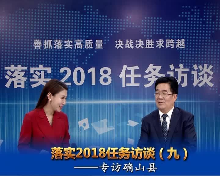 落实2018任务访谈--专访确山县县长彭广峰