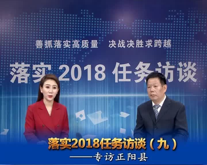 落实2018任务访谈--专访正阳县县长王东征