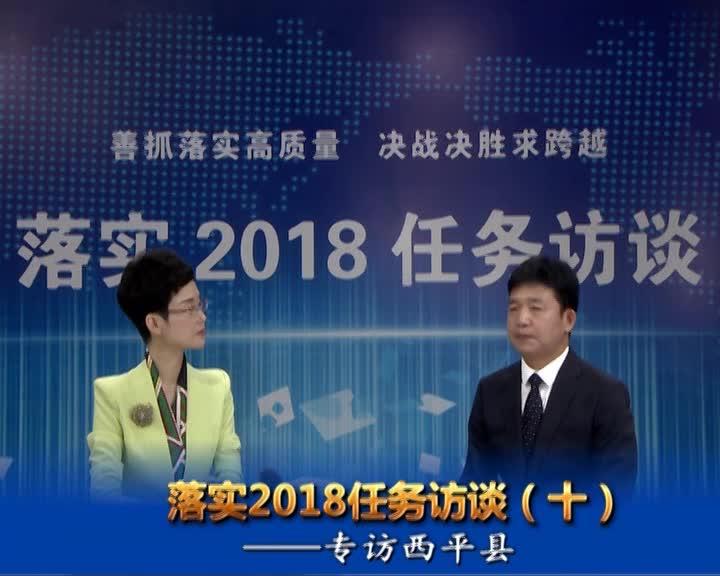 落实2018任务访谈--专访西平县县长李全喜