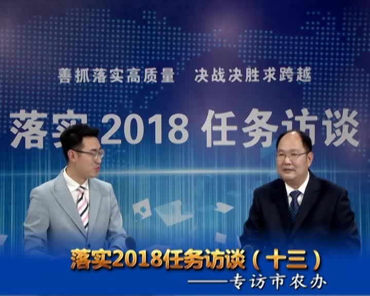 落实2018任务访谈--专访市农办党委书记、主任王忠民