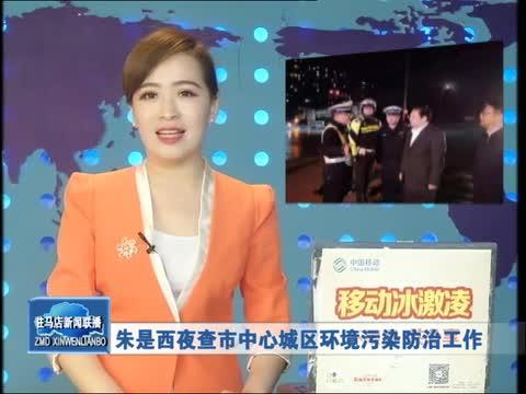 《朱是西夜查市中心城区环境污染防治工作》