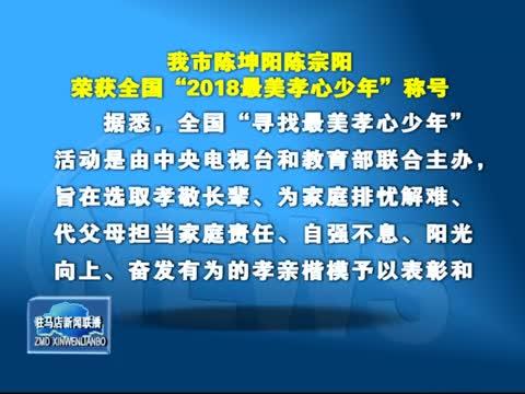 我市陈坤阳陈宗阳荣获全国2018最美孝心少年称号