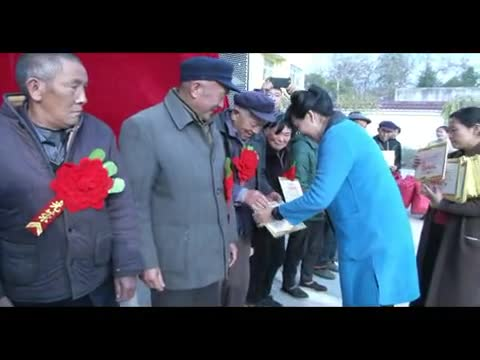 正阳县王大塘村92户贫困群众领到脱贫光荣证