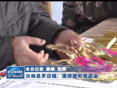 汝南县罗店镇废弃麦秆变成金