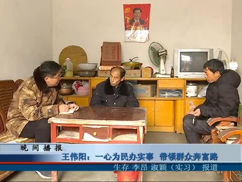 王伟阳 一心为民办实事 带领群众奔富路