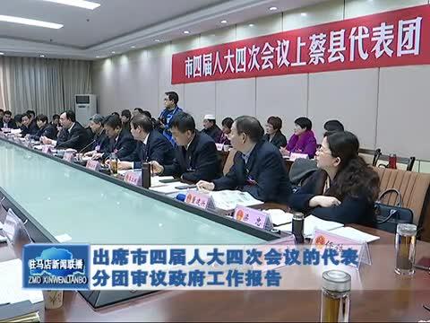 出席市四届人大四次会议的代表分团审议政府工作报告