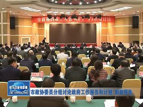 市政协委员分组讨论政府工作报告和计划 财政报告