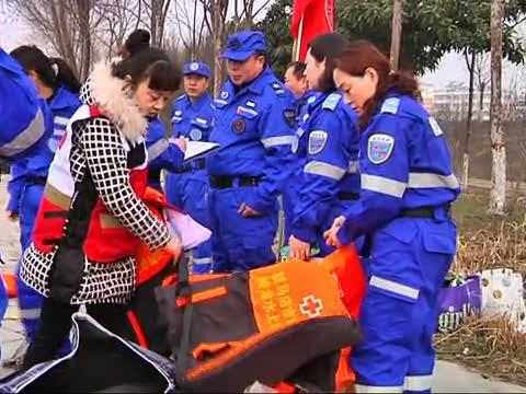 市红十字蛟龙水上义务搜救队举行实践演练