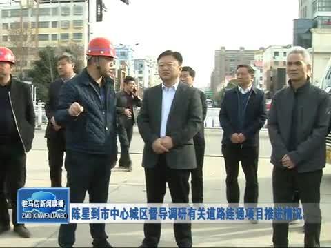 陈星到市中心城区督导调研有关道路连通项目推进情况