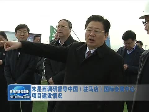 朱是西调研督导中国驻马店国际会展中心项目建设